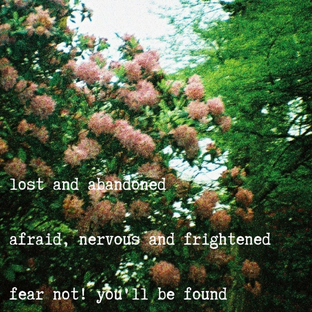 lost and abandonedafraid, nervous and frightenedfear not! you'll be found